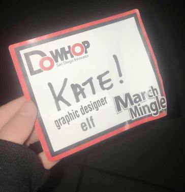 My nametag for March Mingle