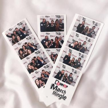 Fun times with friends and the founders of March Mingle in the DoWhop photobooth